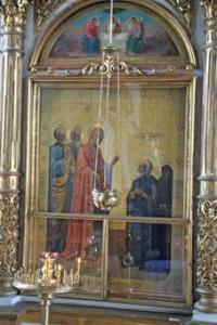 """Икона """"Явление Божией Матери преподобному Сергию"""""""
